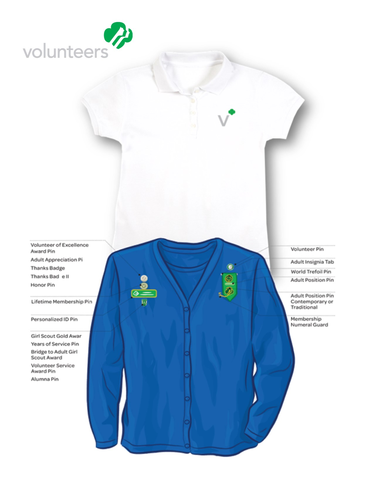 Adult girl scout uniforms order
